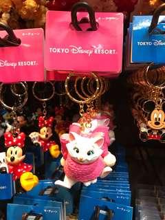 🚚 [現貨]日本🇯🇵迪士尼 瑪莉貓 鑰匙圈