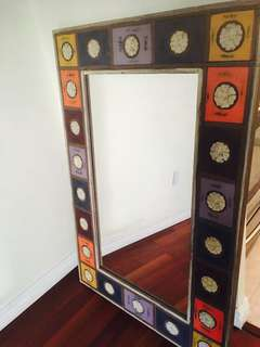 Hand crafted wooden mirror