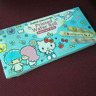 SANRIO CHARACTERS assorted printed wafer rolls - Hello Kitty, Cinnamoroll, Kiki&Lala... dark chocolate, white chocolate and strawberry chocolate flavours (genuine SANRIO licensed product)