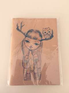 Reindeer Girl Small Notebook