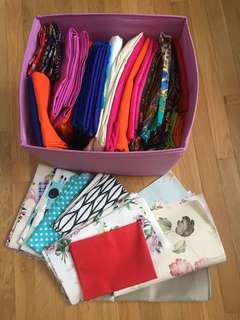 Fabric stash clearance by weight