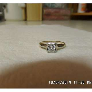 Beautiful 14 - 18k Vintage Diamond Engagement Ring *Solitaire*