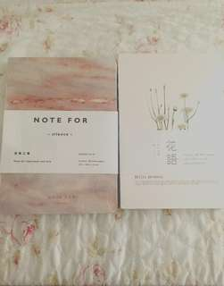 Hard Cover Marble/Flower Print Notebooks