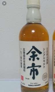 已停止生產,絕版白頭余市威士忌500ml  no box.