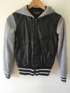 Nude Lucy xxs pleather hoodie jacket