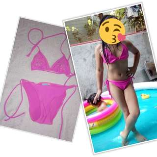 Pink 2 Pcs Bathing Suit