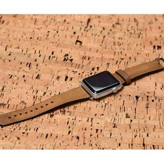 Leather Band (Smooth Brown) for Apple Watch 38mm