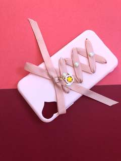 Pink Ribbon Tied soft iPhone X Case