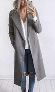 Warm wool grey trench coat - BRAND NEW