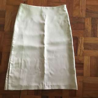 Vintage Khaki Tan High Waist Skirt