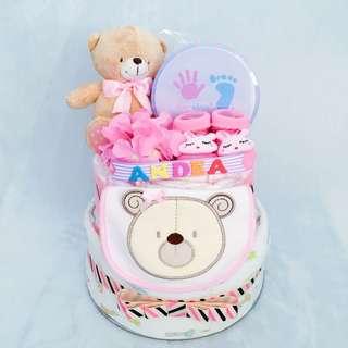 P54 #尿片蛋糕 #Diapercake #新生兒禮物 #百日宴禮物 #生日禮物 #嬰兒禮物 #Baby #Babygift #handmade #diaper #nappy #newborn #100days #bear