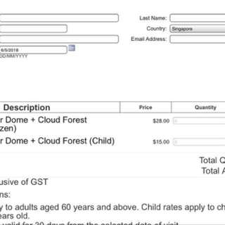 Gardens by the bay- tourist tickets