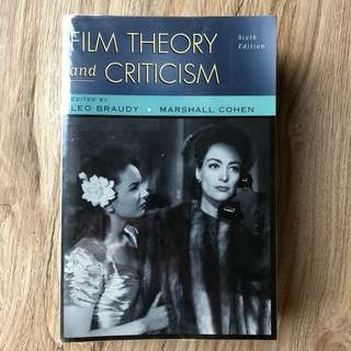 Film Theory and Criticism, edited by Leo Braudy and Marshall Cohen