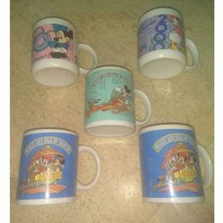 Vintage 1990s Disney Ceramic Mugs / Cups from Darlie toothpaste