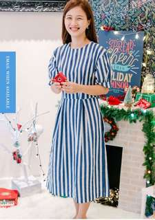 Ksister navy striped marine dress