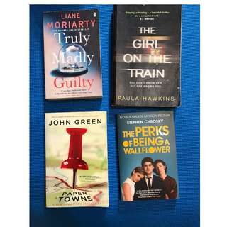 Variety of popular fiction and non fiction