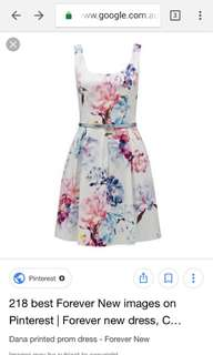 Forever New Floral Fit and Flare Dress