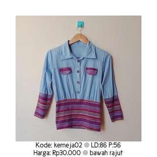 Blue Knit Shirt