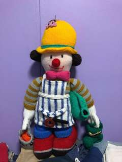 22 Inch Handmade Knitted Colourful Painter Clowns