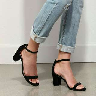 Block Heels One-Strap (3 inches)