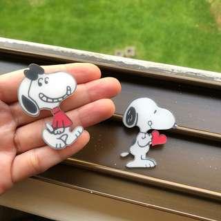 Snoopy Acrylic Badge Pin Brooch ‼️5 FREE 1‼️