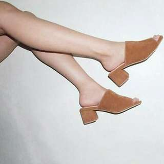 Block Heels Mules (2 inches)