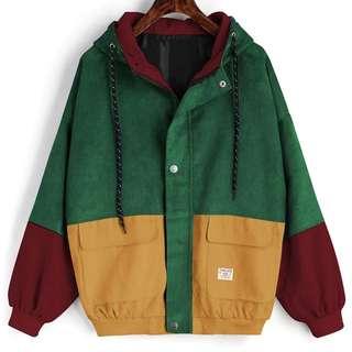 corduroy retro windbreaker jacket