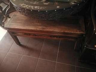 antique long chair elm wood