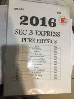 2016 Pure Physic exam paper