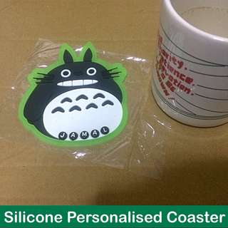 Silicone Personalised Coaster (makes a nice gift; price is for 1pc) [uncle anthony]