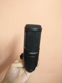 Audio technica AT2020 condenser microphone mic