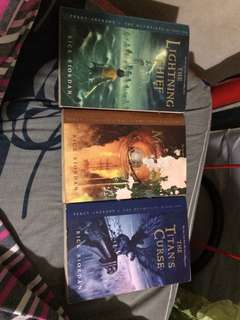 books 1-3 of percy jackson and the olympians