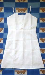 全新 白色 吊帶背心連身裙