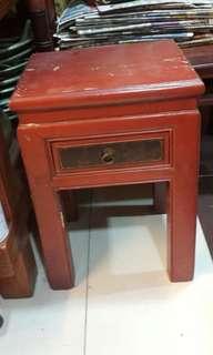 elm wood side table
