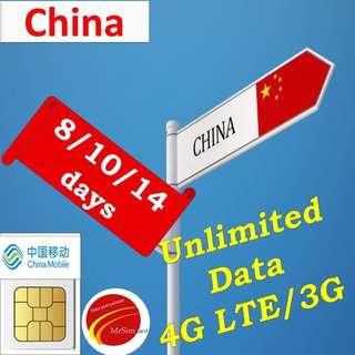 China Sim Card. ( China Mobile)