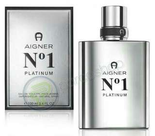 Parfum aigner no.1 platinum for men original 100 % box + segel