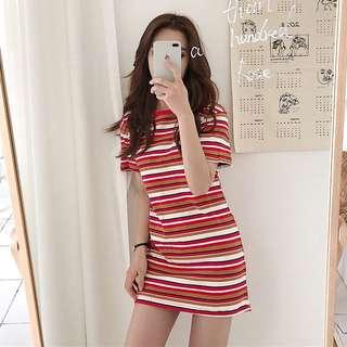 [PO] Stripe Tshirt Dress