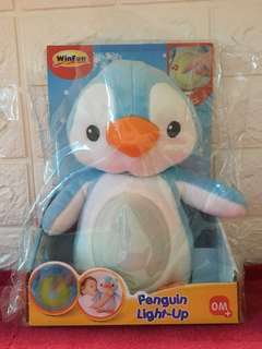 Penguin Light Up Stuffed Toy