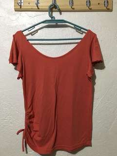 Blouse (Red Orange)