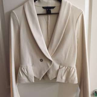 Authentic Marc By Marc Jacobs Off White Cropped Blazer