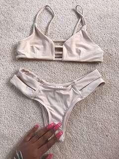 Zaful cream bikini set