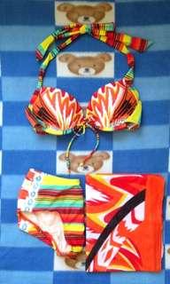 全新 LI-NING 橙色 三件套比堅尼 配胸墊