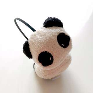 Cute Panda Earmuffs Black and White