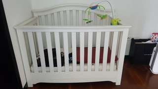 Wooden Baby Cot with 3 adjustable level