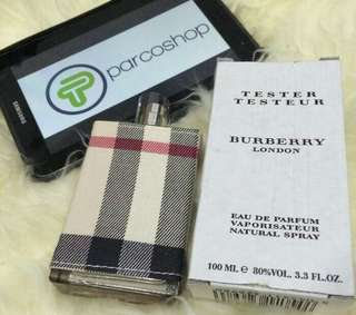 Parfum burberry london women original 100 % tester + official box