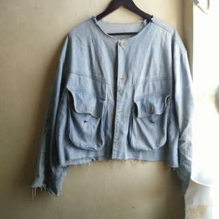 Oversized rebel denim jacket