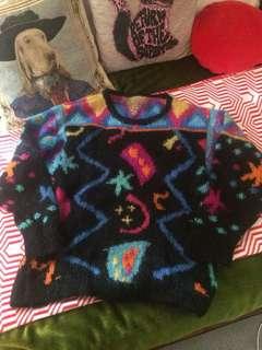 Vintage 80s mohair jumper