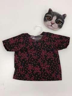 Baju Raya Kucing Cotton Flower