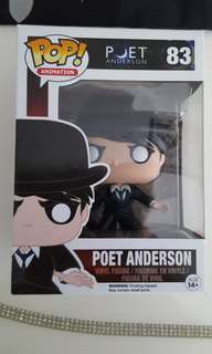 Funko Pop Animation Poet Anderson The Dream Walker Figure Boxed Brand New