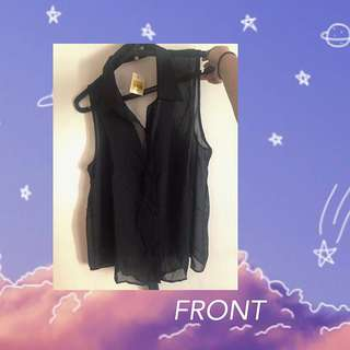 Charlotte Russe (Black See Through Blouse)